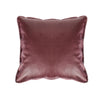 Faux Leather Cushion - Bordeaux