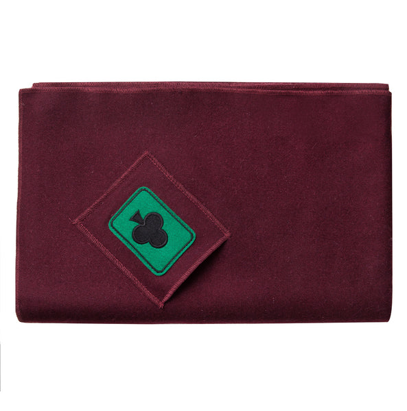 Felt Tablecloth for Cards - Burgundy