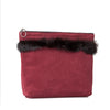 Alia pouch with fur - Burgundy