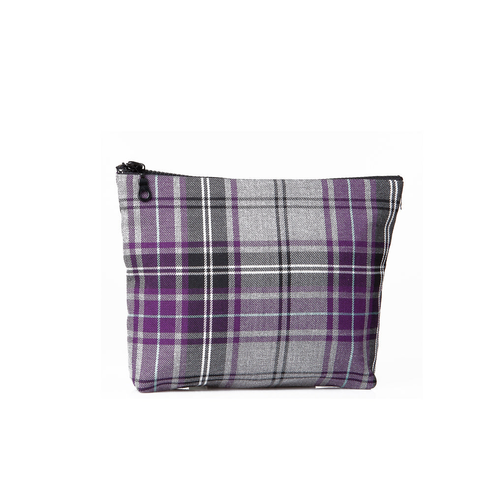 Small tartan pouch - Purple