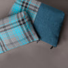 Large tartan pouch - Turquoise