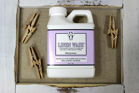 image of bottle of linen care in box