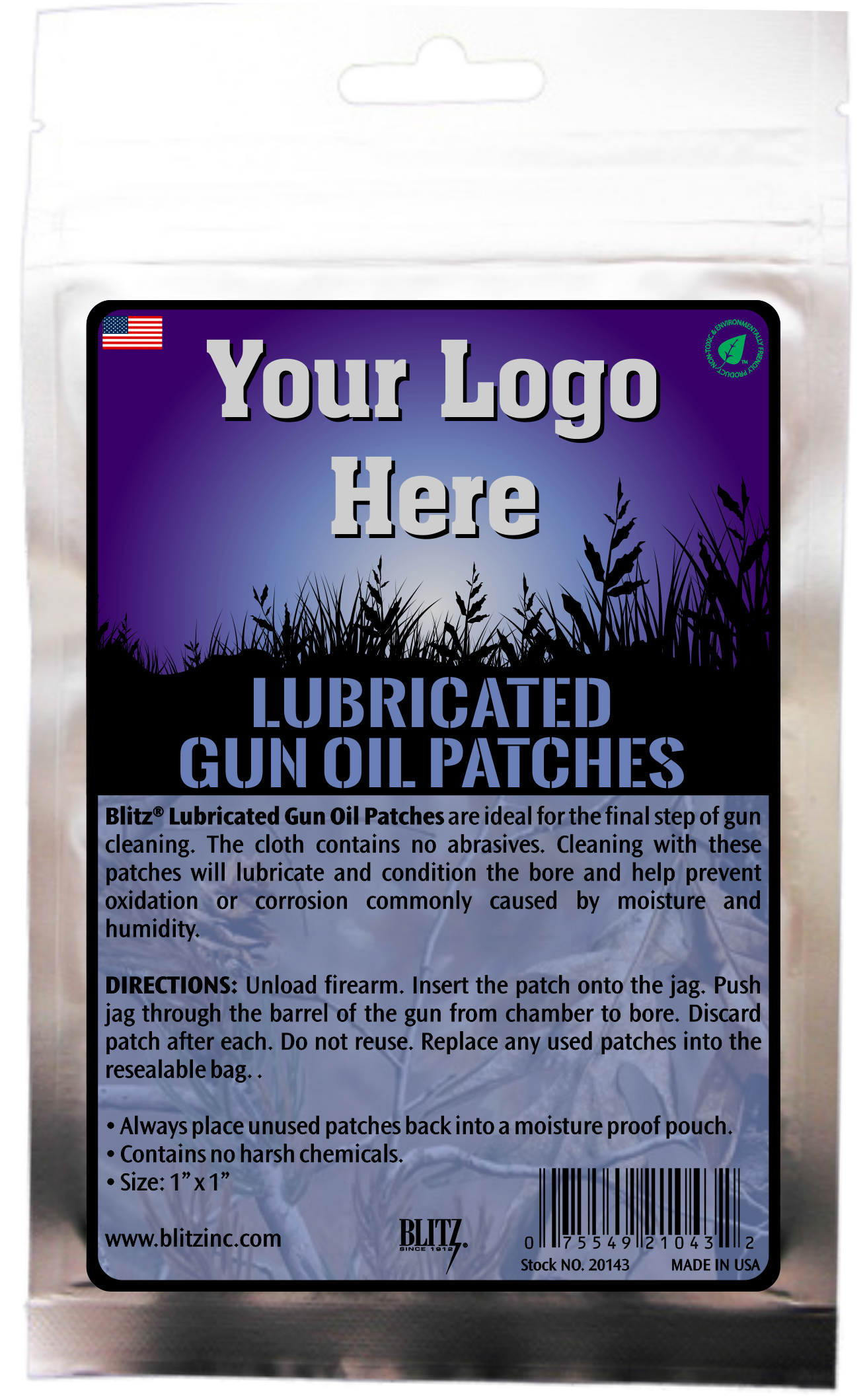 Private Label Lubricated Gun Oil Patches