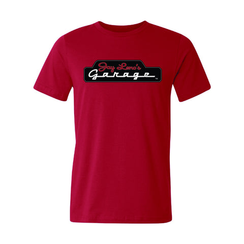 Jay Leno's Garage Front Mount T-Shirt (Red)