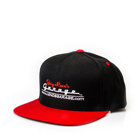 Jay Leno's Garage Snapback Hat (Red/Black)