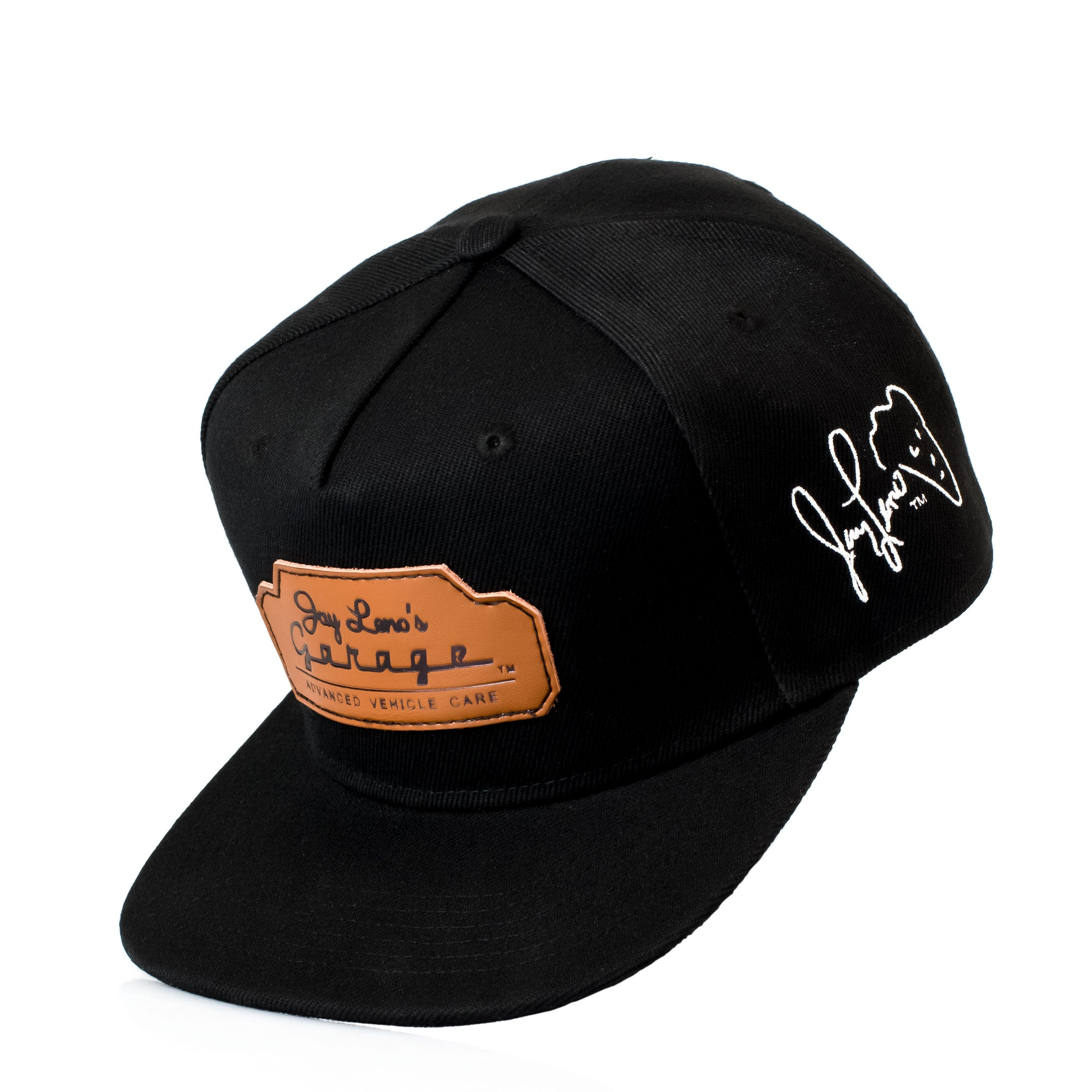 80c694a6df6e0 Leather Patch Snapback Hat - Leno s Garage