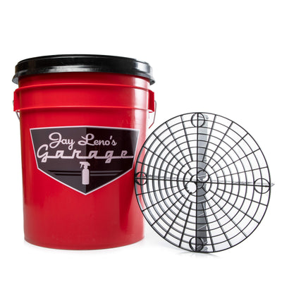 Jay Leno's Garage 5 Gallon Wash Bucket with Grit Guard & Gamma Seal Lid
