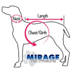 Dog Size Chart for Mirage Pet Products