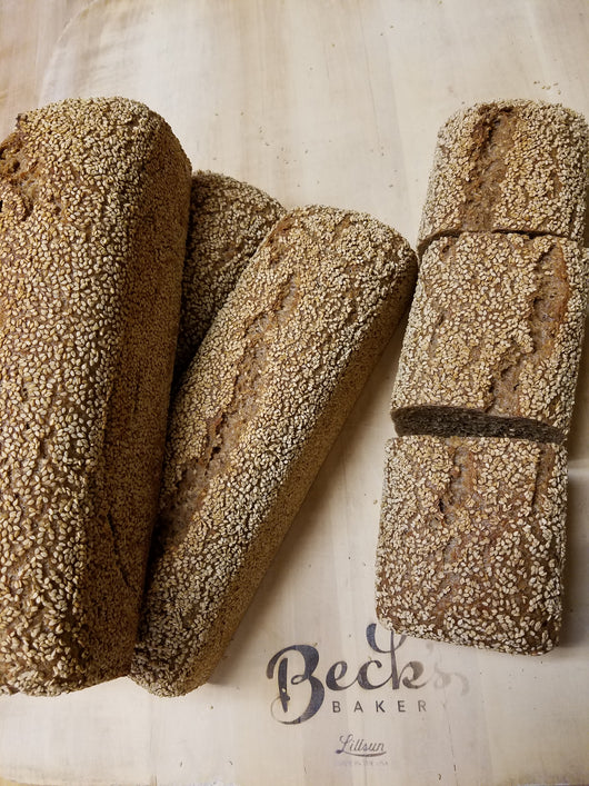 *100% Whole Grain Sesame Spelt Sourdough - Curbside pick-up only