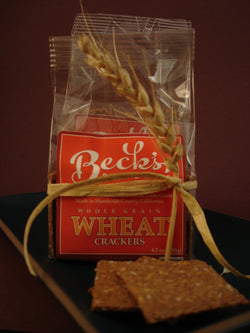 100% Whole Wheat Crackers - Stone Ground
