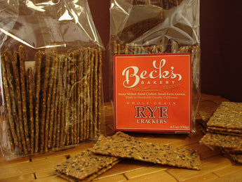 100% Whole Rye Crackers - Stone Ground