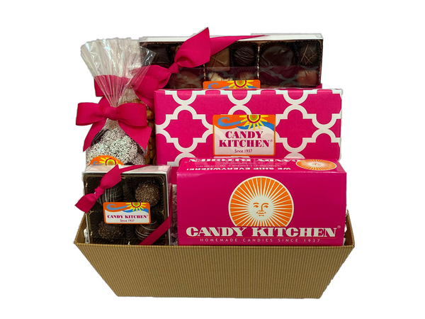 Candy Kitchen Assortment Gift Basket with Specialty Fudge