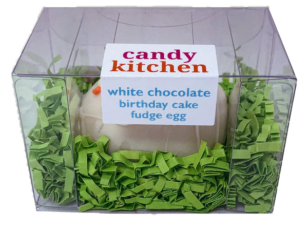 White Chocolate Birthday Cake Fudge Easter Egg - 3 oz.
