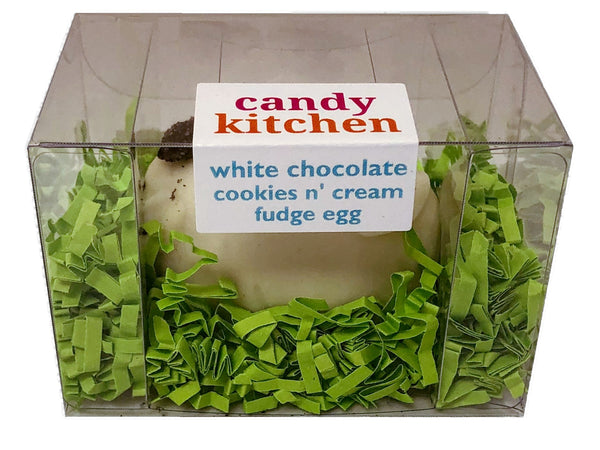 White Chocolate Cookies N' Cream Fudge Easter Egg - 3 oz.