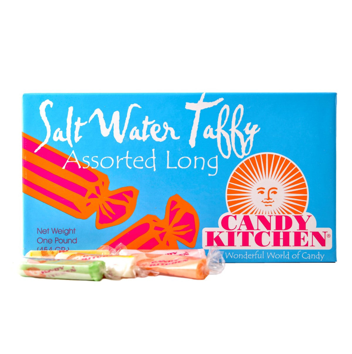 1 lb assorted long taffy - Candy Kitchen