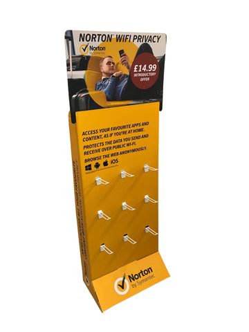 9 Euro-Hook Floor Standing Display