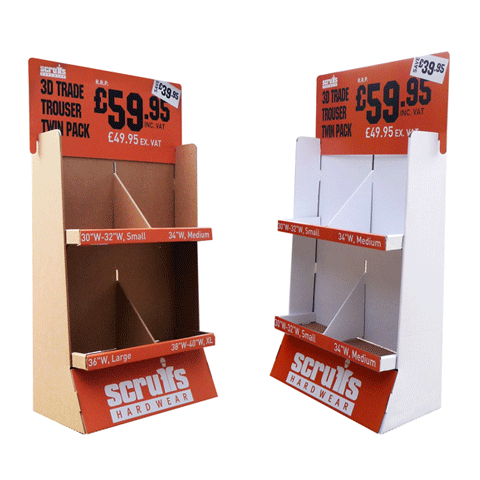 Bespoke Floor Standing Displays - Cardworks Ltd