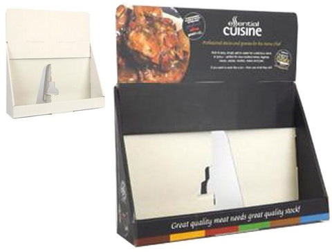 A4 Landscape Counter Display 70mm Capacity 318Wx75Dx210H - Cardworks Ltd