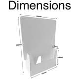 A5 Flip & Slot Leaflet Dispenser - Cardworks Ltd