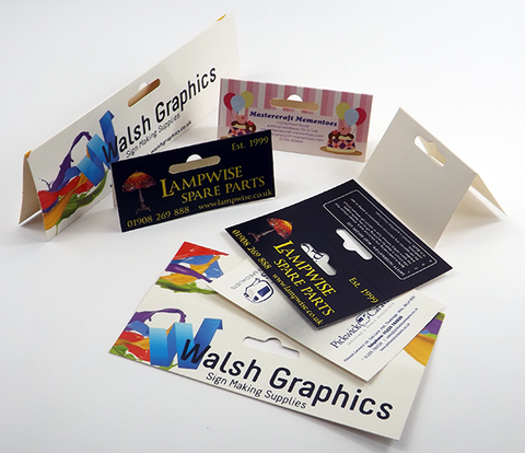 Click to view all stock size Folding Header Cards