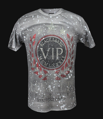 VIP Bling Red Crew Neck
