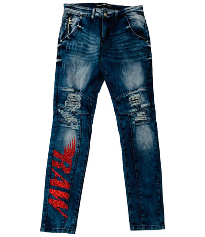 RAW Red Bling Jean