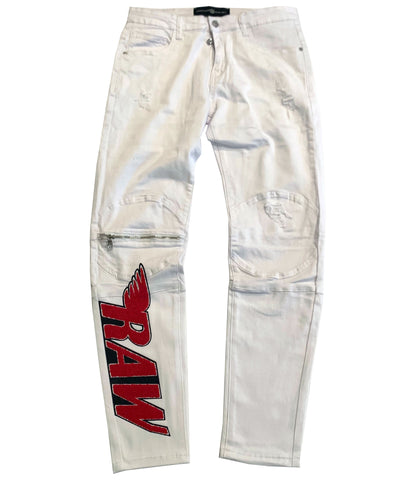RAW Red Moto Jeans