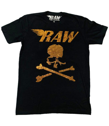 RAW Skull Bling Crew Neck