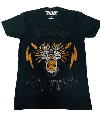 Raw Tiger Full Bling Crew Neck