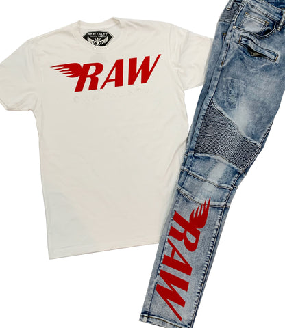 Own The Now Crew Neck and Jean Set