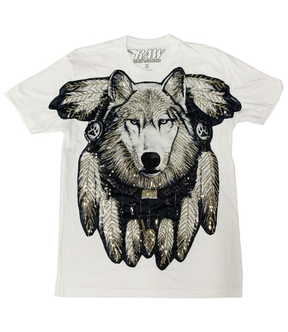 Wolf Sequence Hand Made Crew Neck