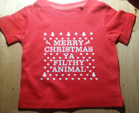 Merry Christmas Ya Filthy Animal Tee