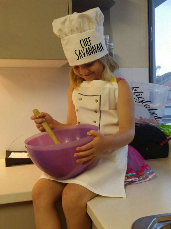 Personalised Children's apron with chef's hat