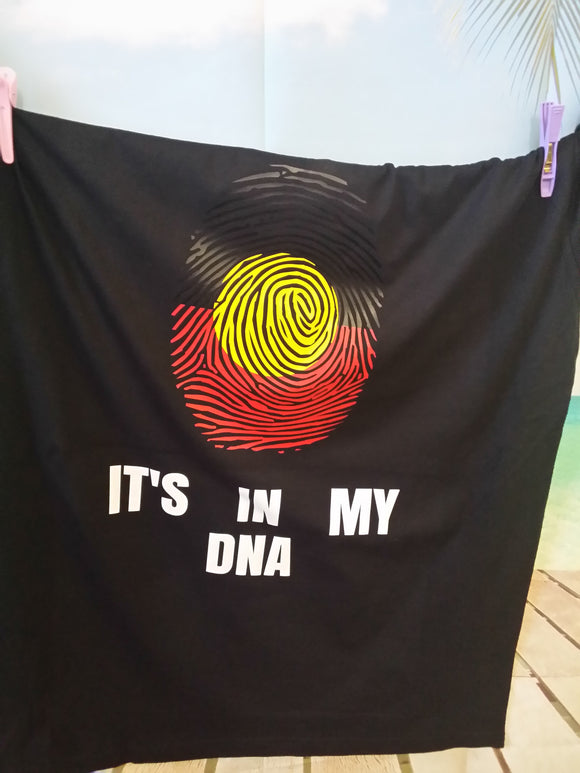 Koori DNA Tee - Aboriginal flag