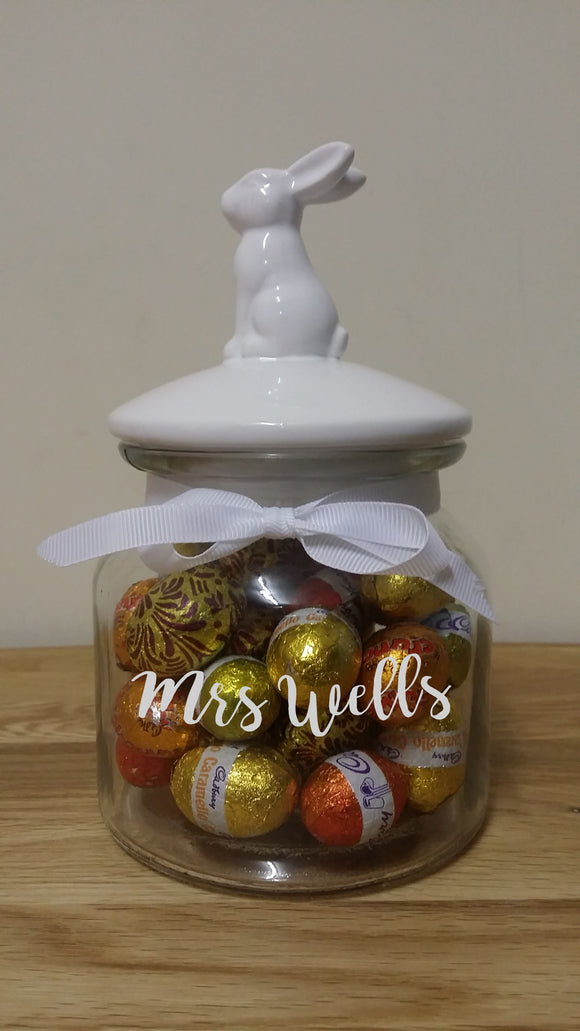 Personalised Easter Bunny Jar