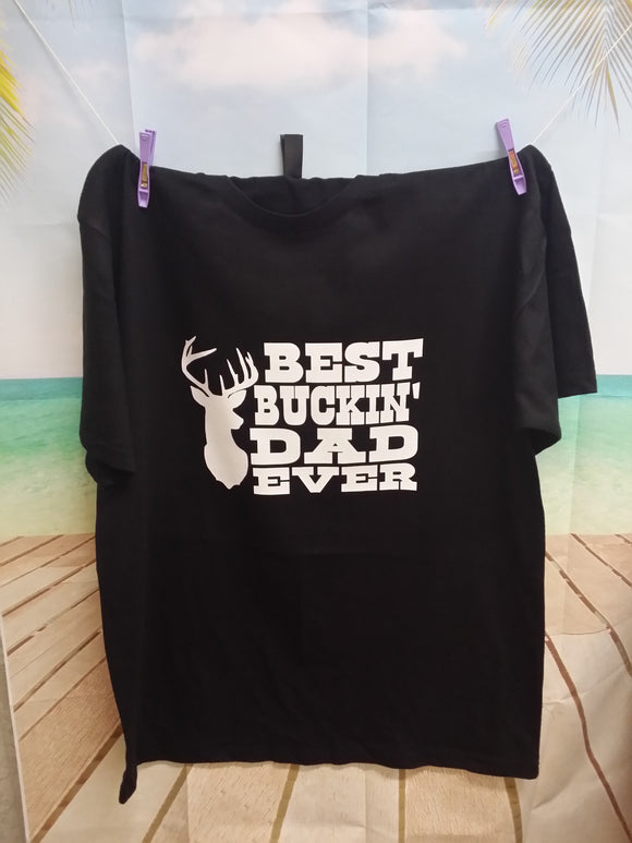 Best Buckin Dad Ever Short Sleeve T-Shirt