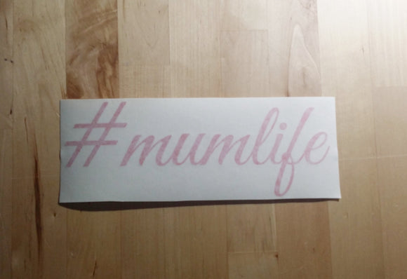 #mumlife Sticker - RED ONLY