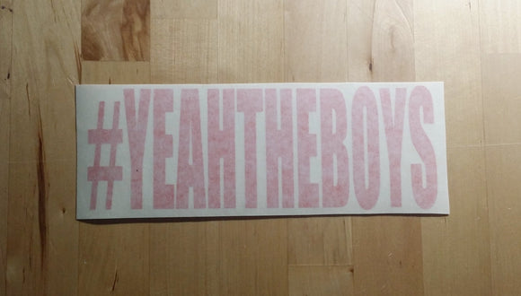 #YEAHTHEBOYS Sticker - RED ONLY