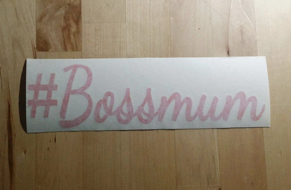 #Bossmum Sticker - RED ONLY