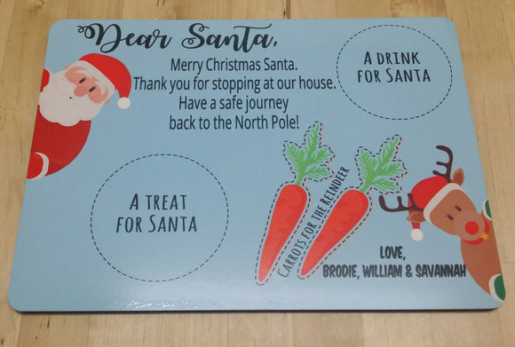 Personalised Santa Christmas Eve Treat Board plate