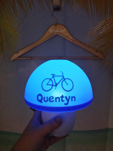 Children's Personalised Mushroom shaped Night Light