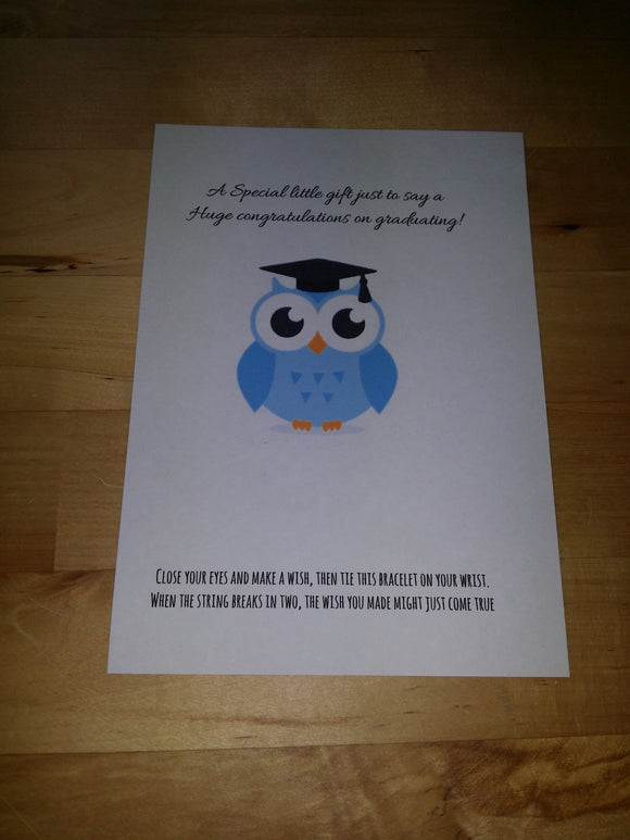 Graduation - Wish Bracelet - Blue owl