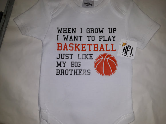 When I grow up I want to play Basketball Tee / Bodysuit