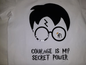 Courage is my secret power design - All Ages - Harry Potter inspired