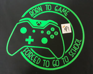 Born to Game - x-box design - All ages
