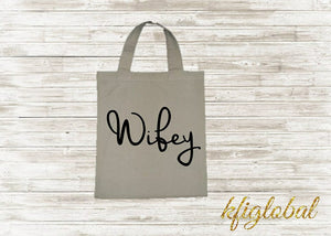 Wifey Calico Bag Tote