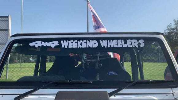 4x4 weekend  wheeler's window banner Sticker - Slimline