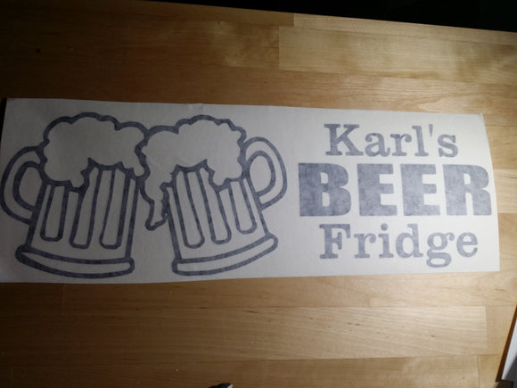 Beer Fridge Sticker