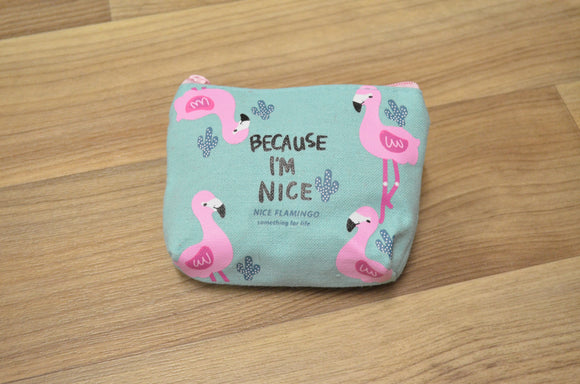 Personalised Flamingo Mini Coin Wallet Purse