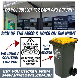 I return and earn sticker